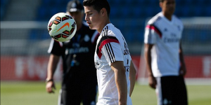Entrena James Rodríguez con el Real Madrid