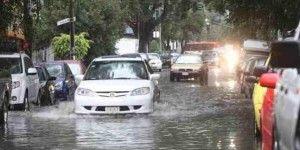 Encharcamientos en el DF por lluvias