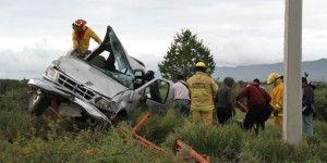 Dos muertos por volcadura en carretera de Coahuila
