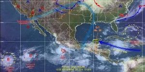 Amenaza nueva depresión tropical en el Pacífico mexicano