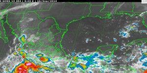 Diferentes fenómenos climáticos provocarán lluvias en gran parte del país