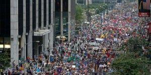 Marchan miles por el clima en el mundo
