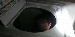 Trata de entrar a EE.UU. en una lavadora