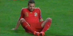 Jordi Alba estará fuera 10 días por lesión