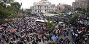 manifestacion CNTE 15 mayo Refoma