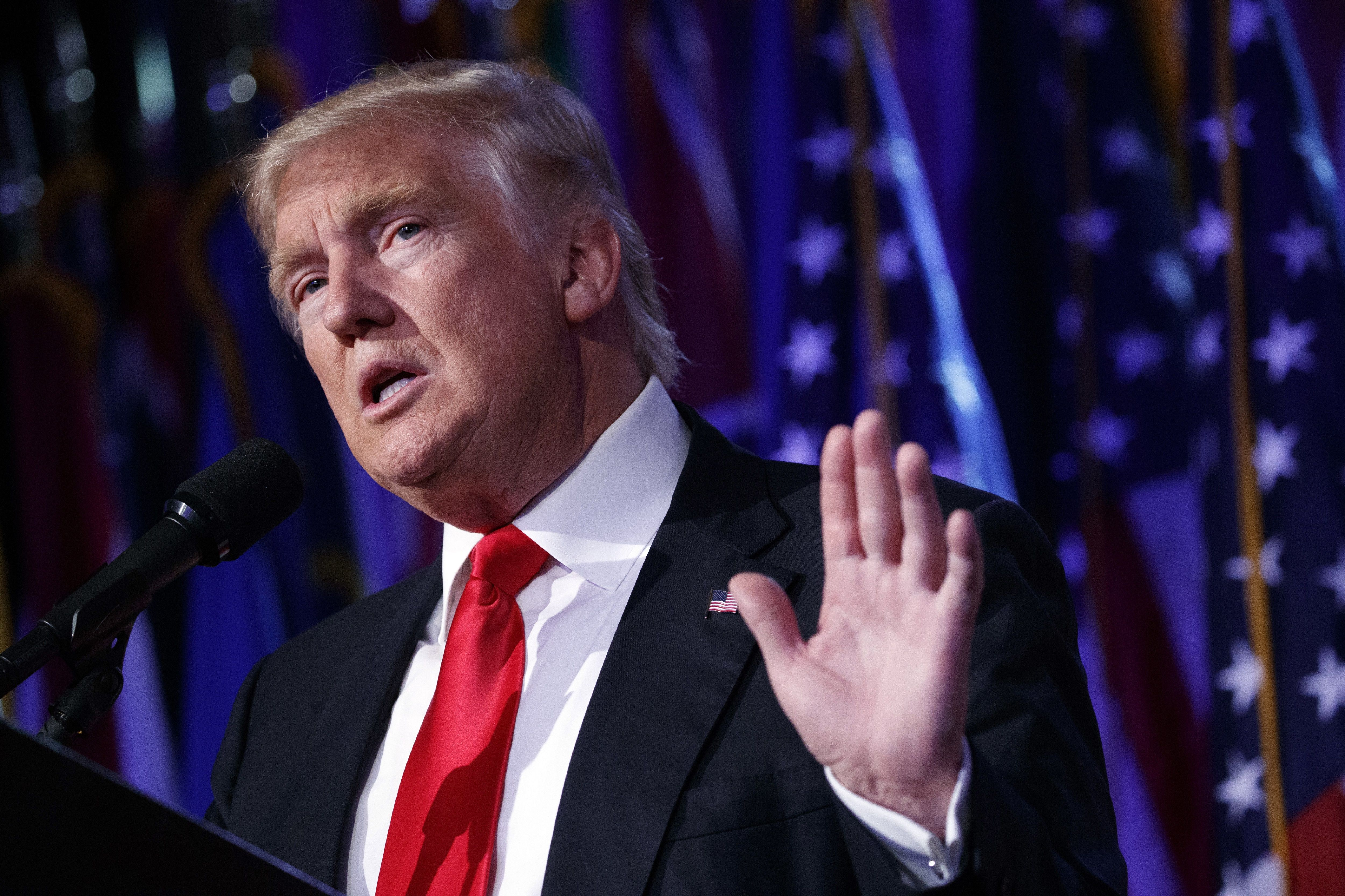 El presidente electo Donald Trump. Foto de AP.