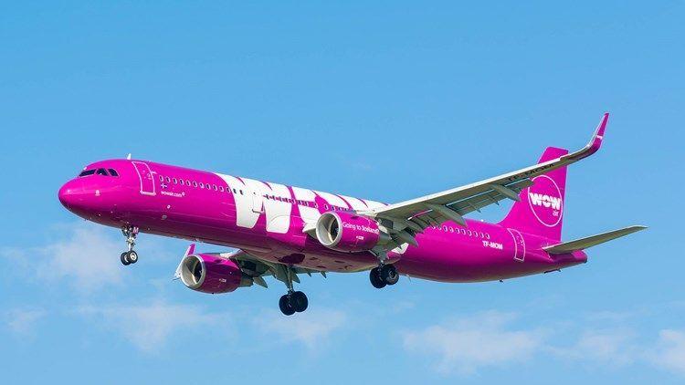 Avión de WOW Air. Foto de Travel Weekly