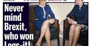 Portada sexista sobre May y Sturgeon causa indignación en Reino Unido