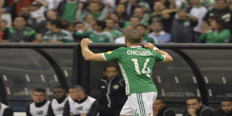 chicharito celebra gol 46 costa rica