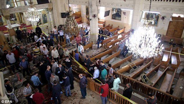 Resultado de imagen para Al menos 37 muertos en atentado a iglesias en celebración del Domingo de Ramos en Egipto