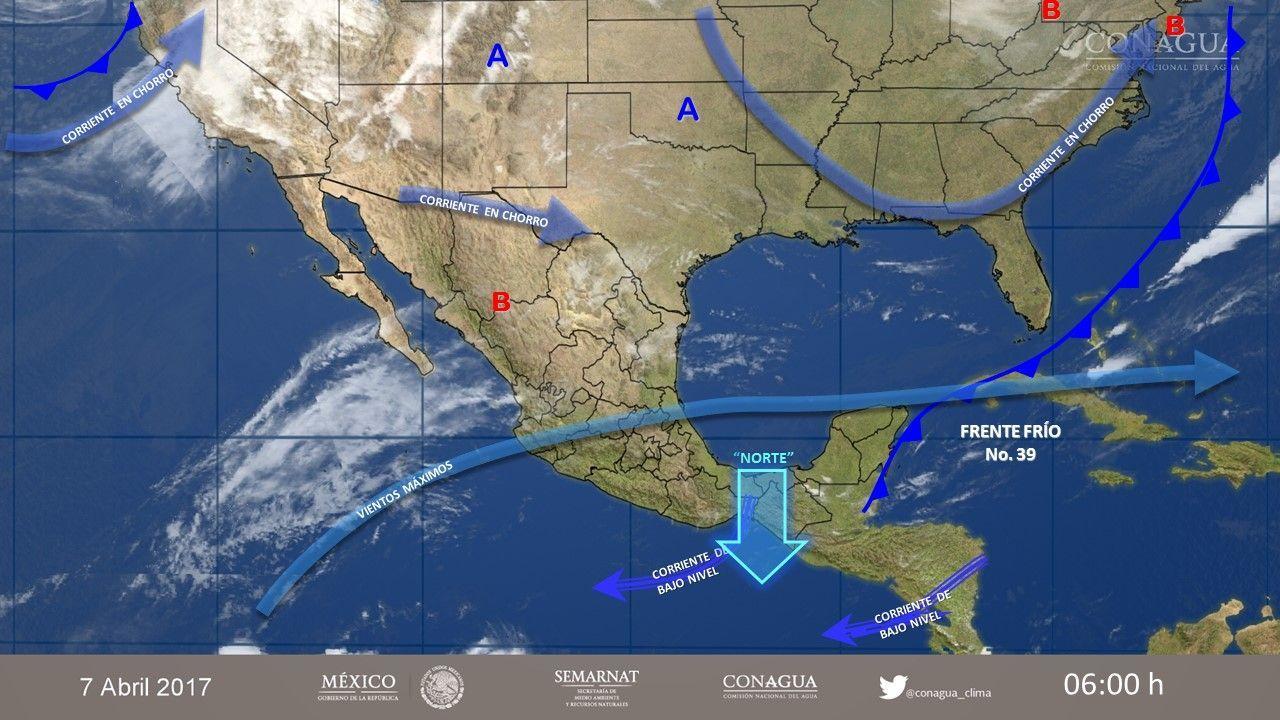 Prevén tormentas fuertes en regiones de siete estados