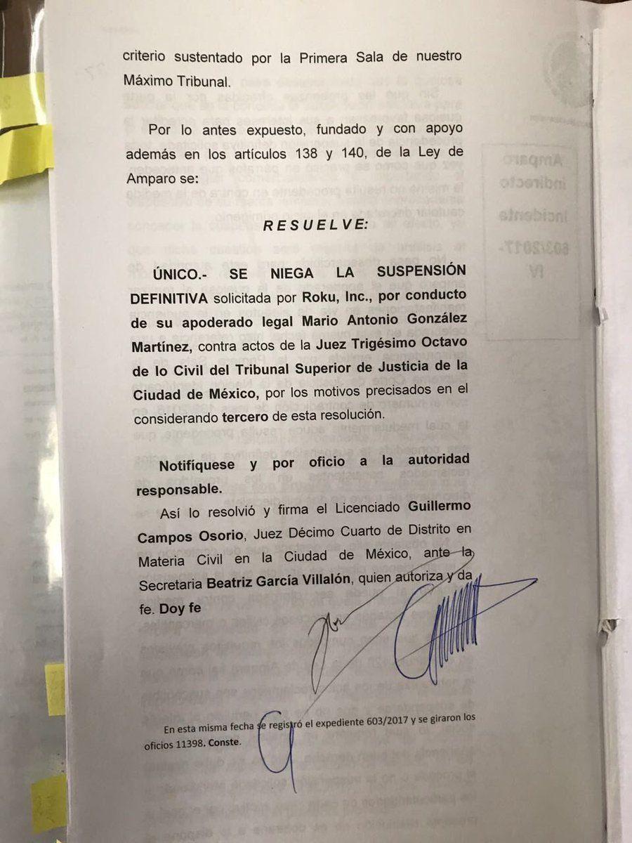 Roku pierde demanda y no se venderá más en México via @laviejaguardiaa