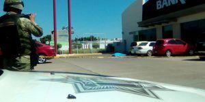 Intento de asalto en banco deja guardia de seguridad muerto en Culiacán